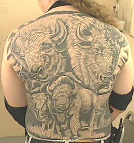 Buffalo tattoo - photo#6