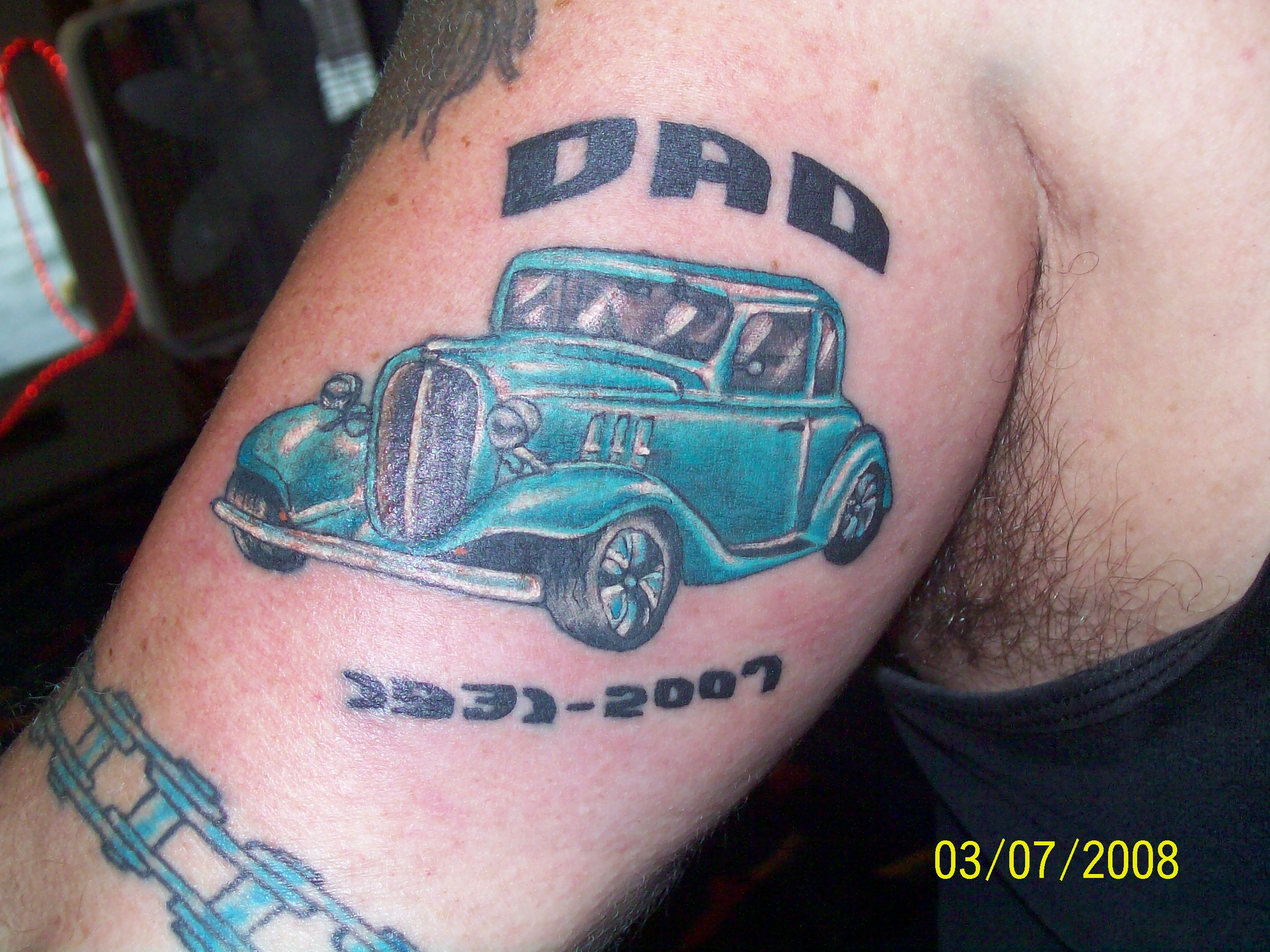 Hot rod tattoo picture for Hot rod tattoos