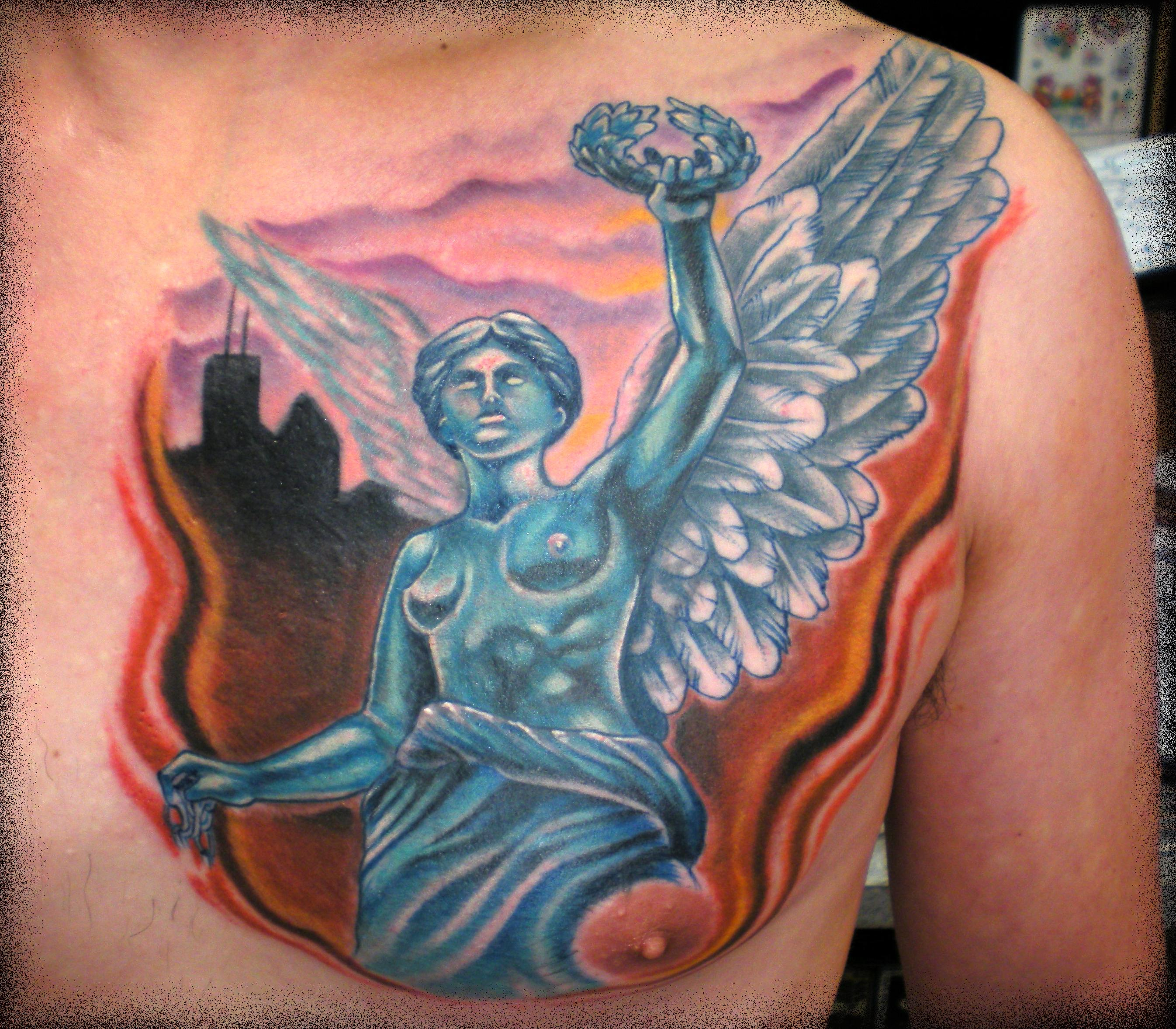 mexico city angel cover up by beto munoz tattoo picture. Black Bedroom Furniture Sets. Home Design Ideas