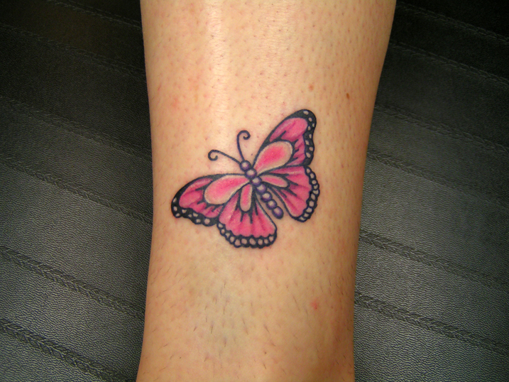 small butterfly tattoo picture. Black Bedroom Furniture Sets. Home Design Ideas