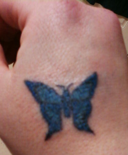 amy's blue butterfly