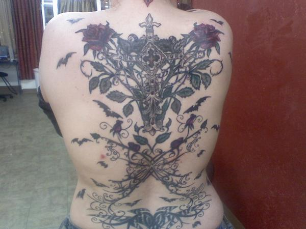 Back mural tattoo picture for Back mural tattoo designs