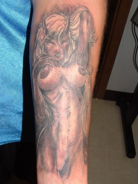 fa223a263686d Lady Demon Tattoo Picture