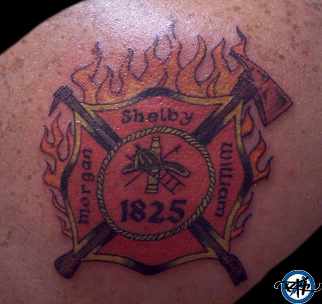 (Maltese cross Firefighter ) maltese cross tattoo design