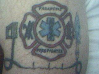 firefighter n paramedic tattoo picture. Black Bedroom Furniture Sets. Home Design Ideas