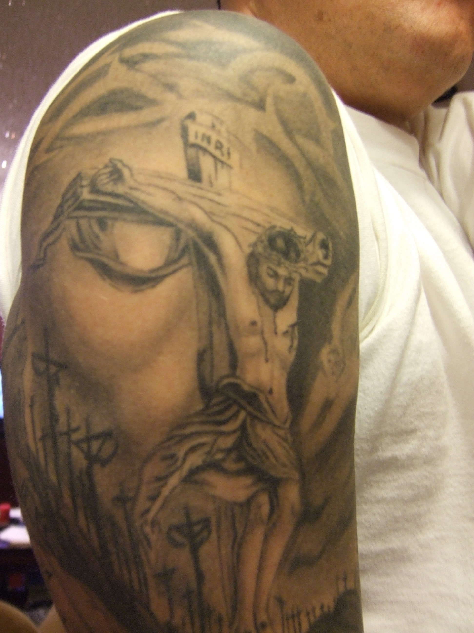 jesus inside of face tattoo picture