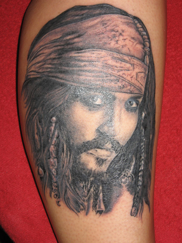 8b795567e083c Johnny Depp As Jack Sparrow Tattoo Picture
