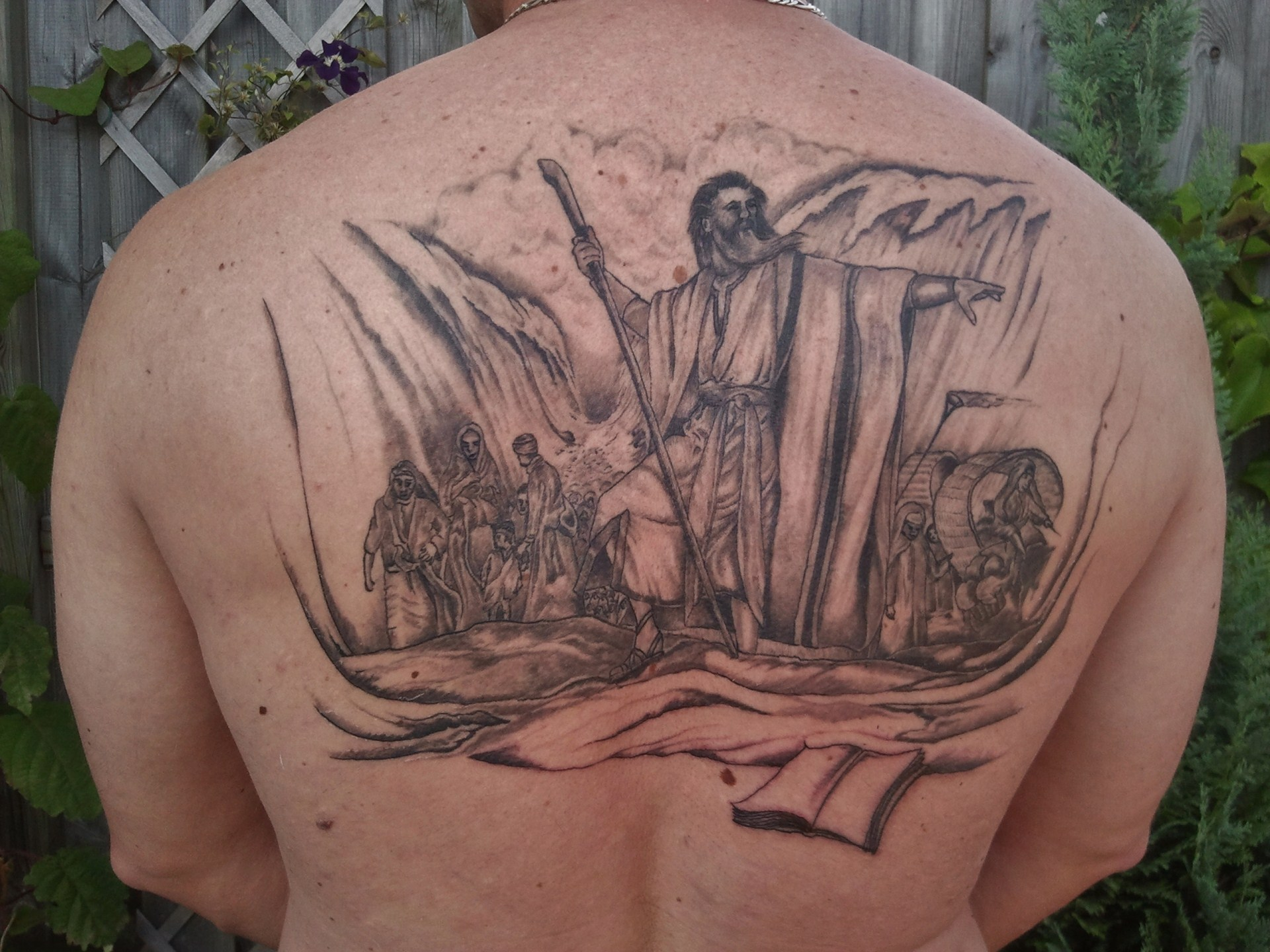 moses red sea tattoo picture