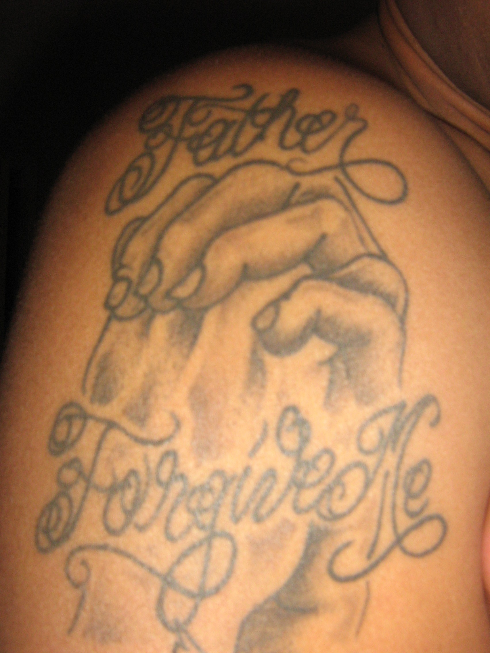 father forgive me tattoo picture. Black Bedroom Furniture Sets. Home Design Ideas