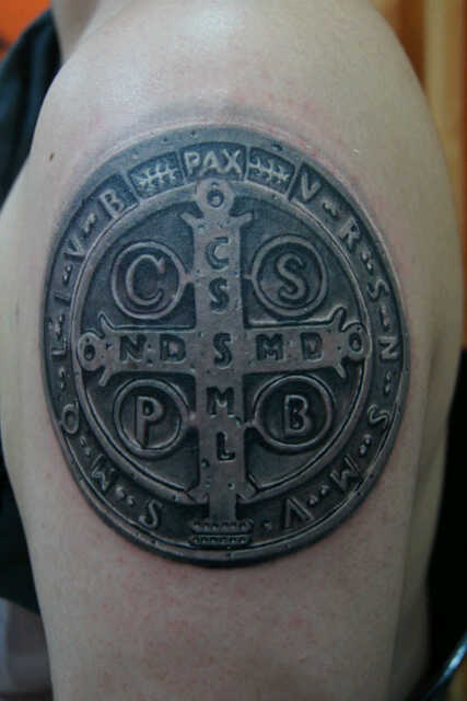 st benedict medal tattoo picture