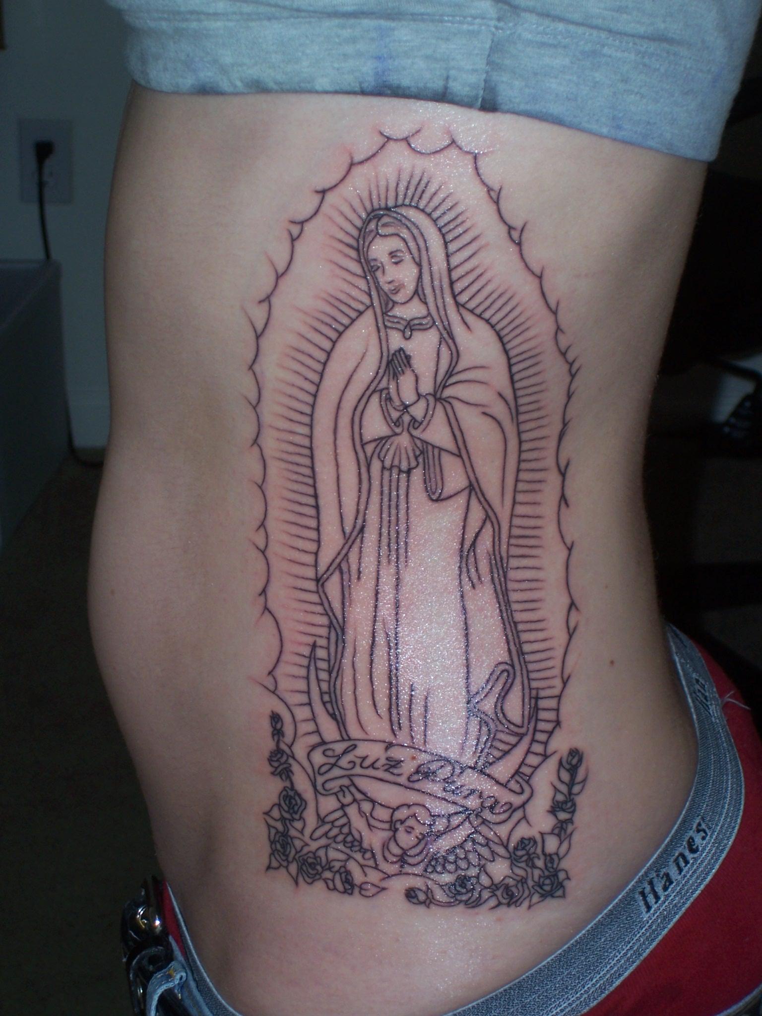 Virgin Mary Tattoo Flash