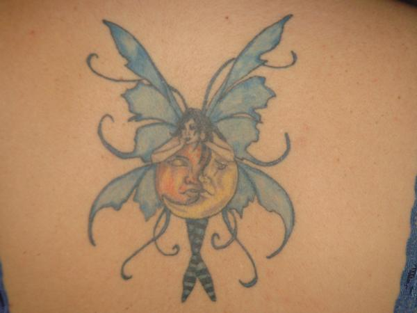 (Fairy Hugging Sun and Moon ) amy brown fairy tattoos