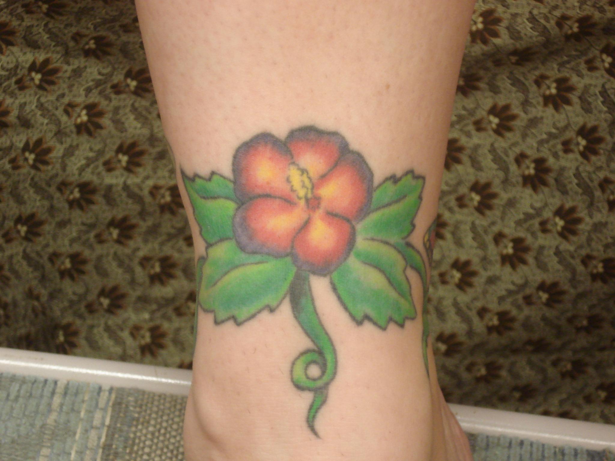 Hibiscus Flower Tattoo Design