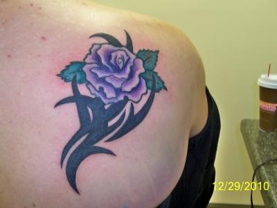 Rose Shoulder Blade Tattoo