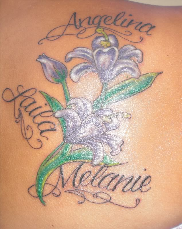 my daughters names with flowers