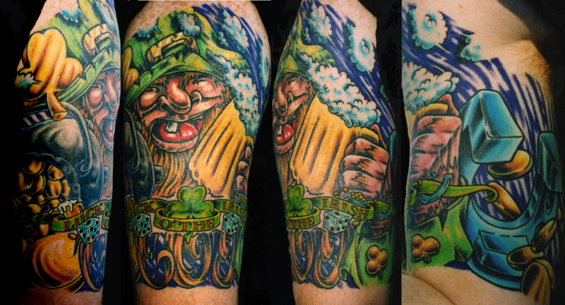 Erics Luck Of The Irish Half SleeveIrish Celtic Sleeve Tattoos