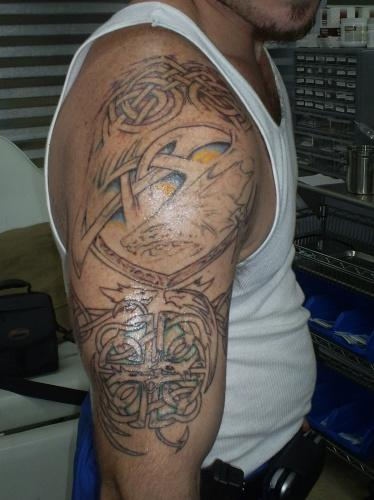 Celtic half sleeveIrish Celtic Sleeve Tattoos