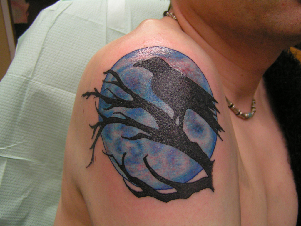 Crow Moon Tattoo Picture