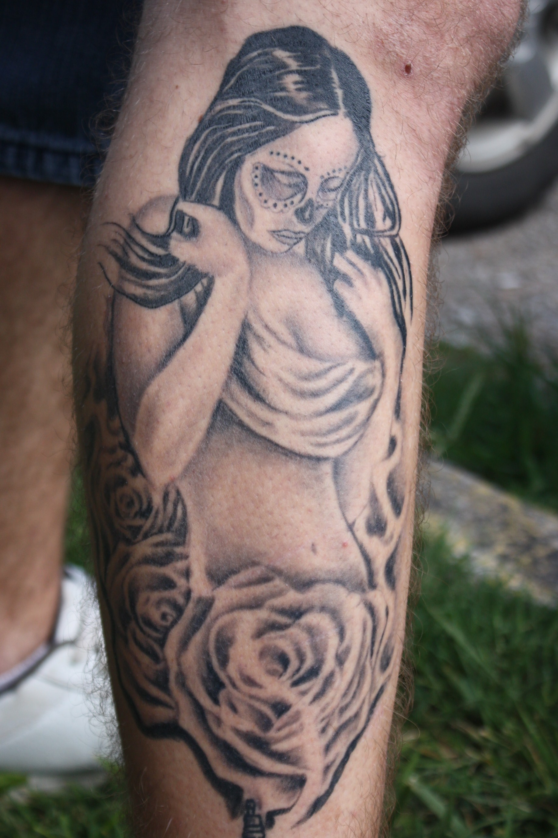 Day of the dead woman tattoo picture