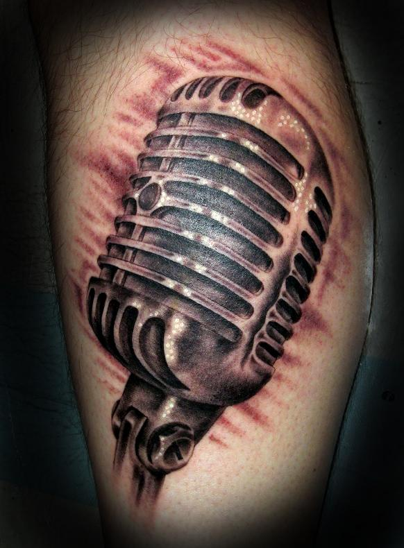 50 39 s mic tattoo picture. Black Bedroom Furniture Sets. Home Design Ideas