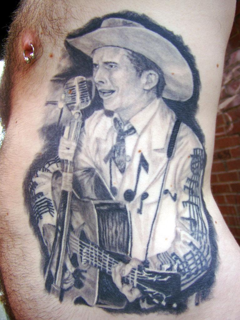 Hank Jr Logo Tattoo