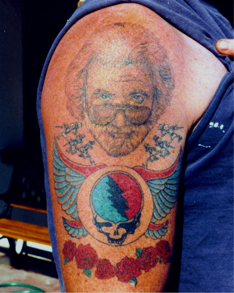 jerry garcia and friends tattoo picture. Black Bedroom Furniture Sets. Home Design Ideas