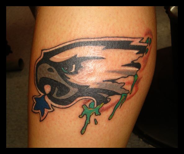 googled eagles tattoo i think this one is trying to eat the dallas star eagles. Black Bedroom Furniture Sets. Home Design Ideas