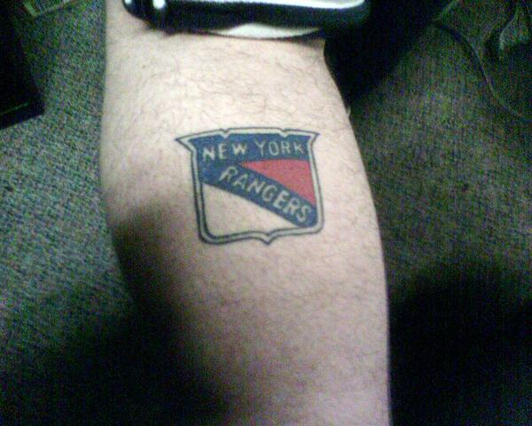 new york rangers tattoo picture. Black Bedroom Furniture Sets. Home Design Ideas