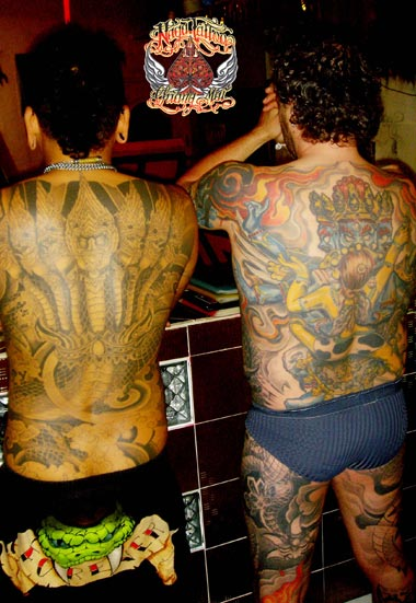 Full Back Ugly Dragon Tattoo Picture