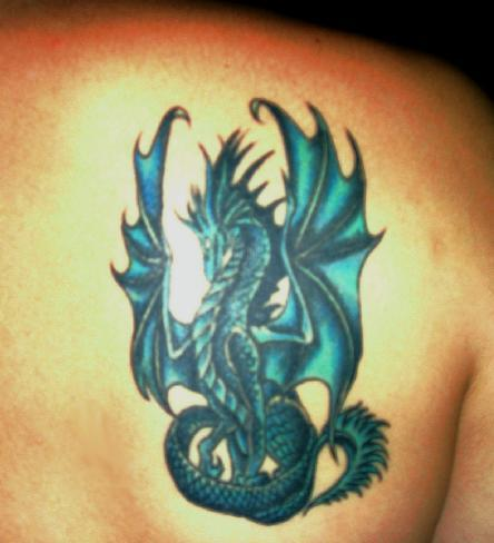 Dragon Tattoo on Blue Dragon Tattoo Design Picture