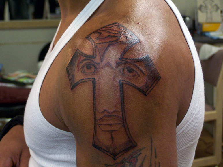 (Jesus Cross Tattoo Design ) jesus mexican name