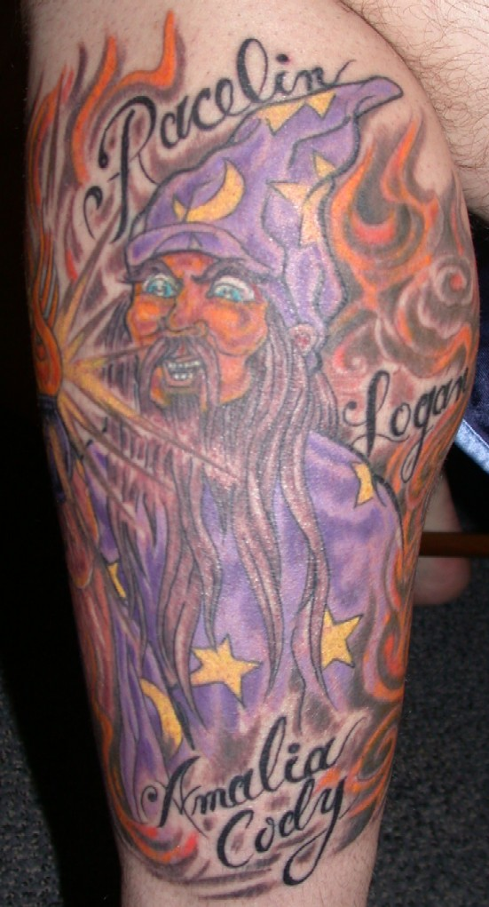 Ammo wizard tattoo picture for Wizard tattoo designs