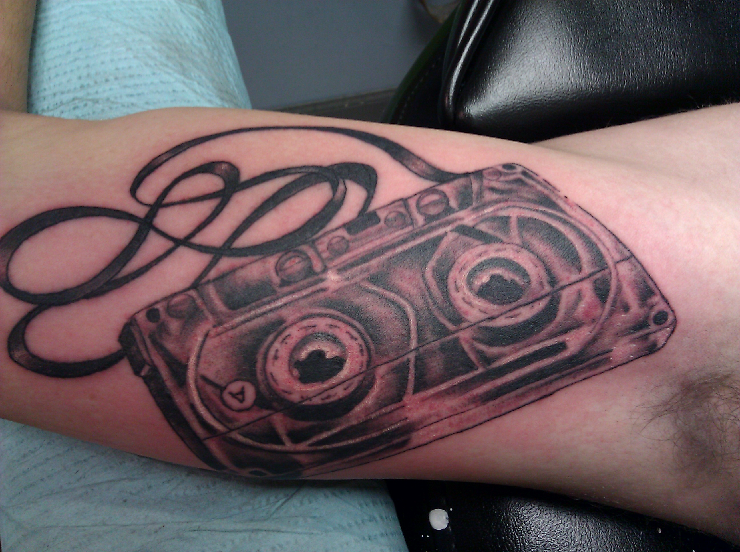 cassette tape tattoo picture. Black Bedroom Furniture Sets. Home Design Ideas