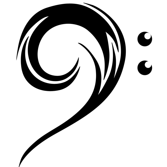 bass clef 1 tattoo picture. Black Bedroom Furniture Sets. Home Design Ideas