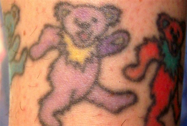 dancing bear anklet tattoo picture