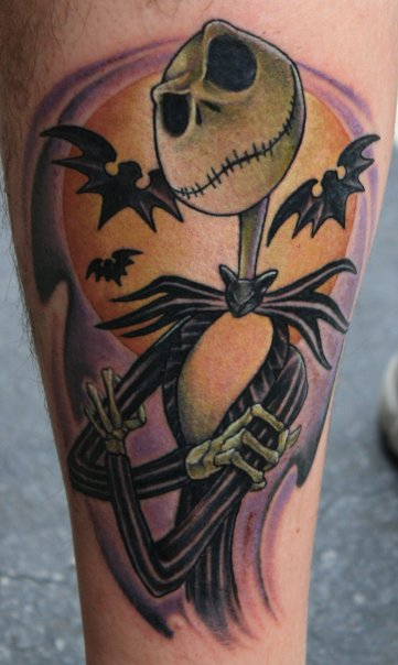 nightmare before christmas tattoo picture. Black Bedroom Furniture Sets. Home Design Ideas