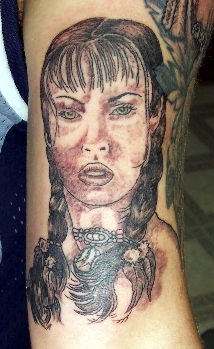 Indian girl tattoo picture for Indian woman tattoo