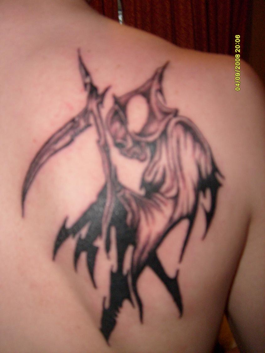 Tribal Grim Reaper Tattoo Picture