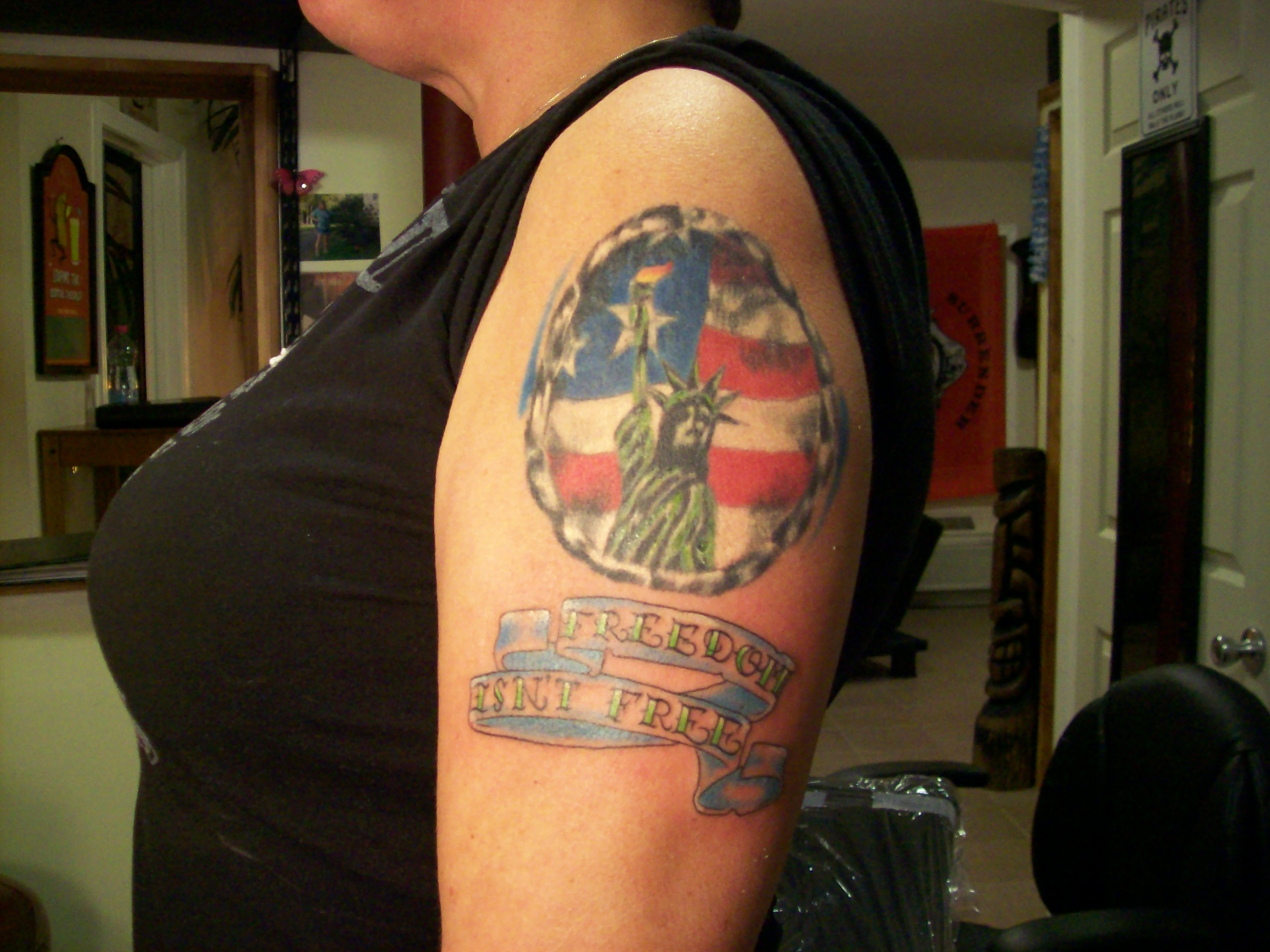 Freedom isn 39 t free tattoo picture for Freedom tribal tattoos
