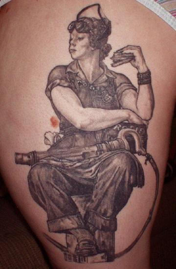 Rockwell 39 s rosie tattoo picture for Norman rockwell tattoo