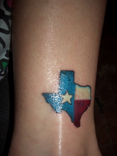 Texas tattoo picture for Texas flag tattoo