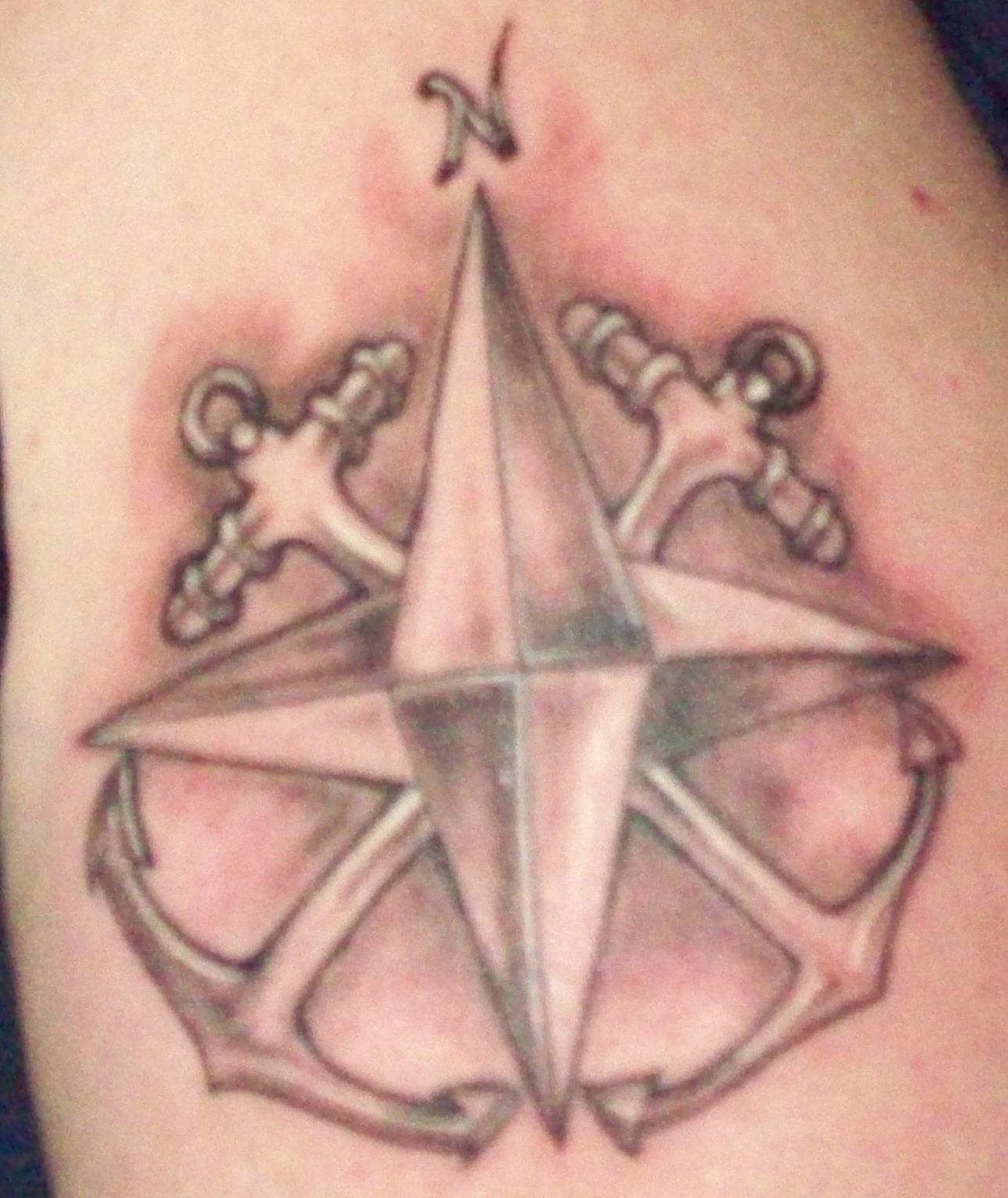 Cross Anchors and Compass