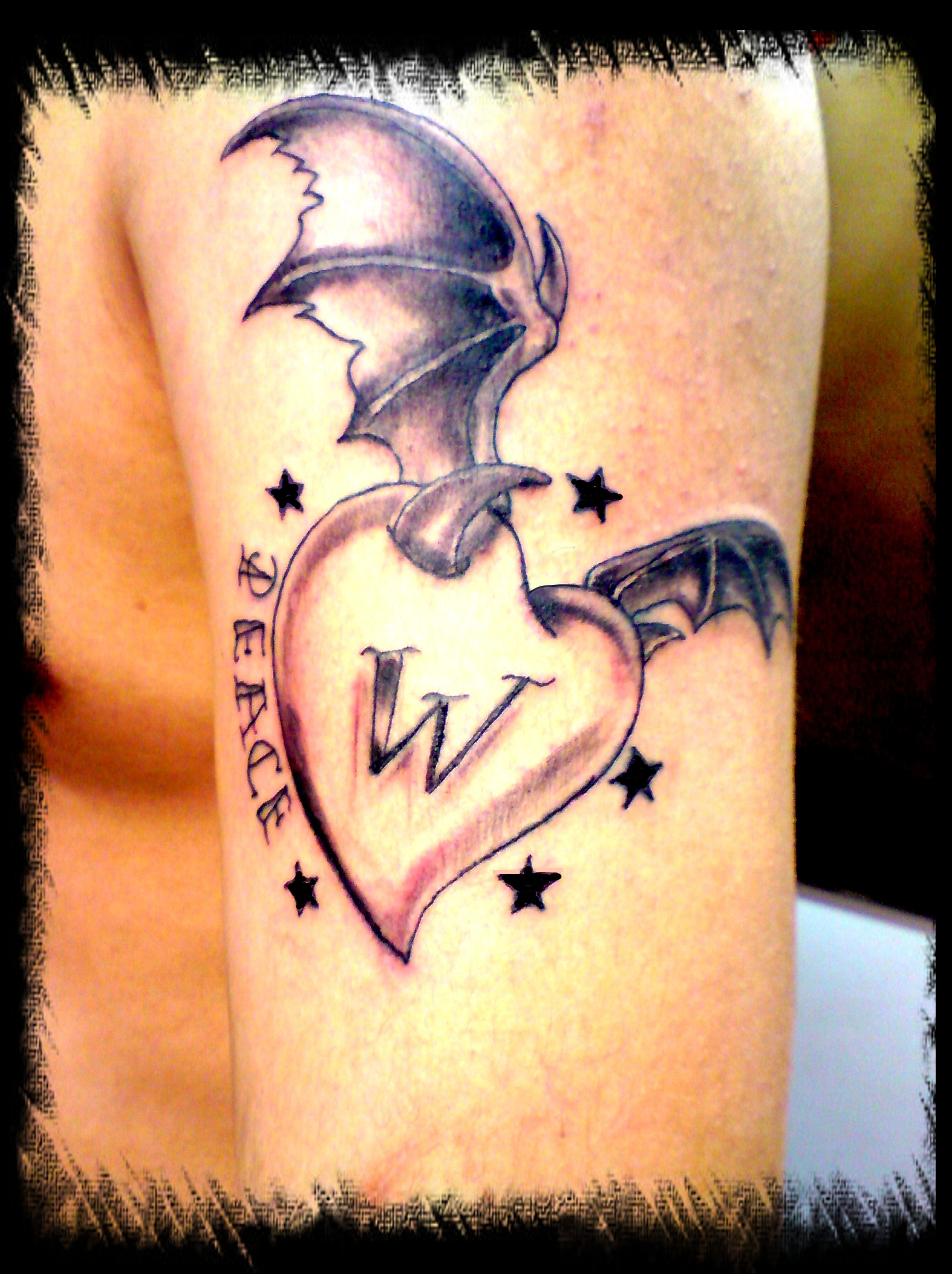 New skool heart tattoo picture for New skool tattoos