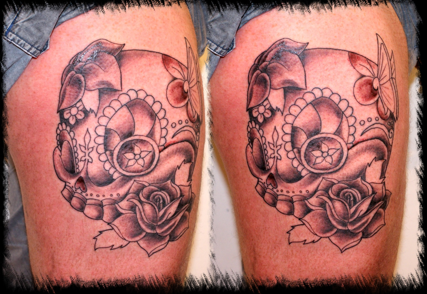 New school pirate skull tattoo - photo#9