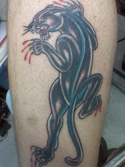 traditional panther tattoo picture