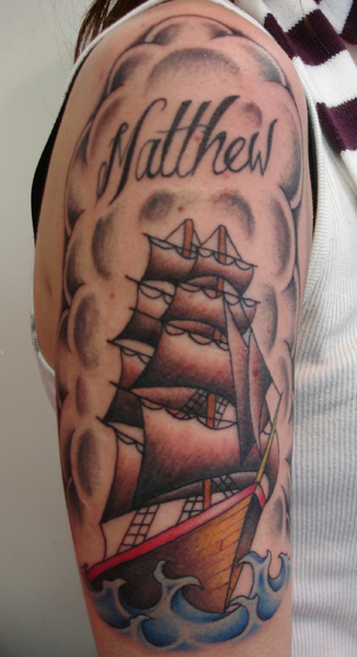 Old School Ship Tattoo Tattoo PictureOld School Battleship Tattoos