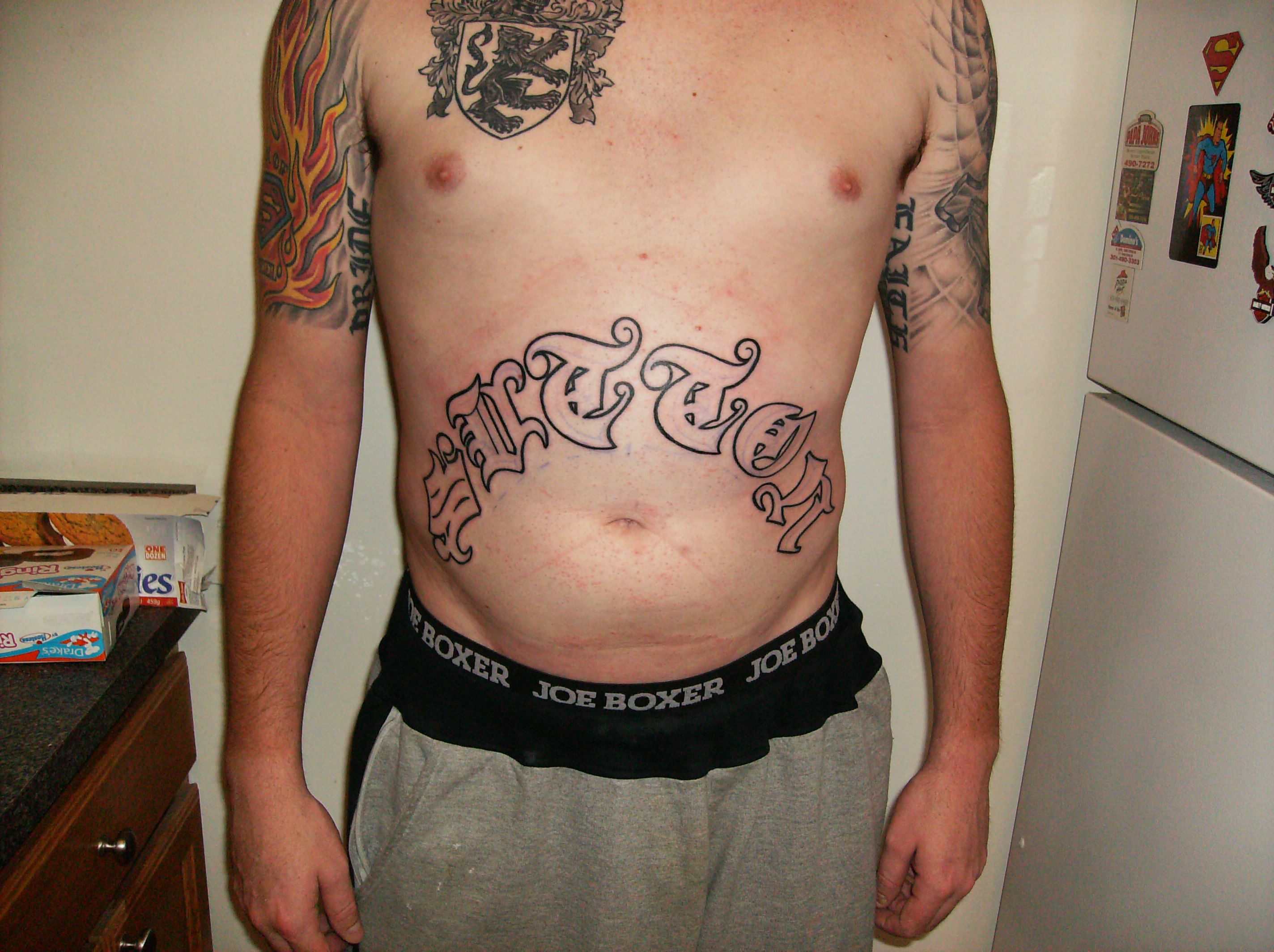 Stomach Tattoo