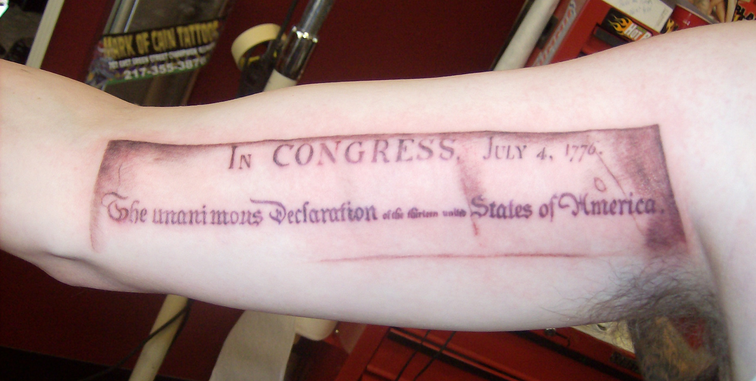 Independence Tattoo Picture