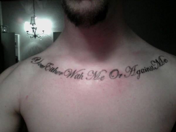 quote tattoos on collar bone. collar bone tattoos. collar
