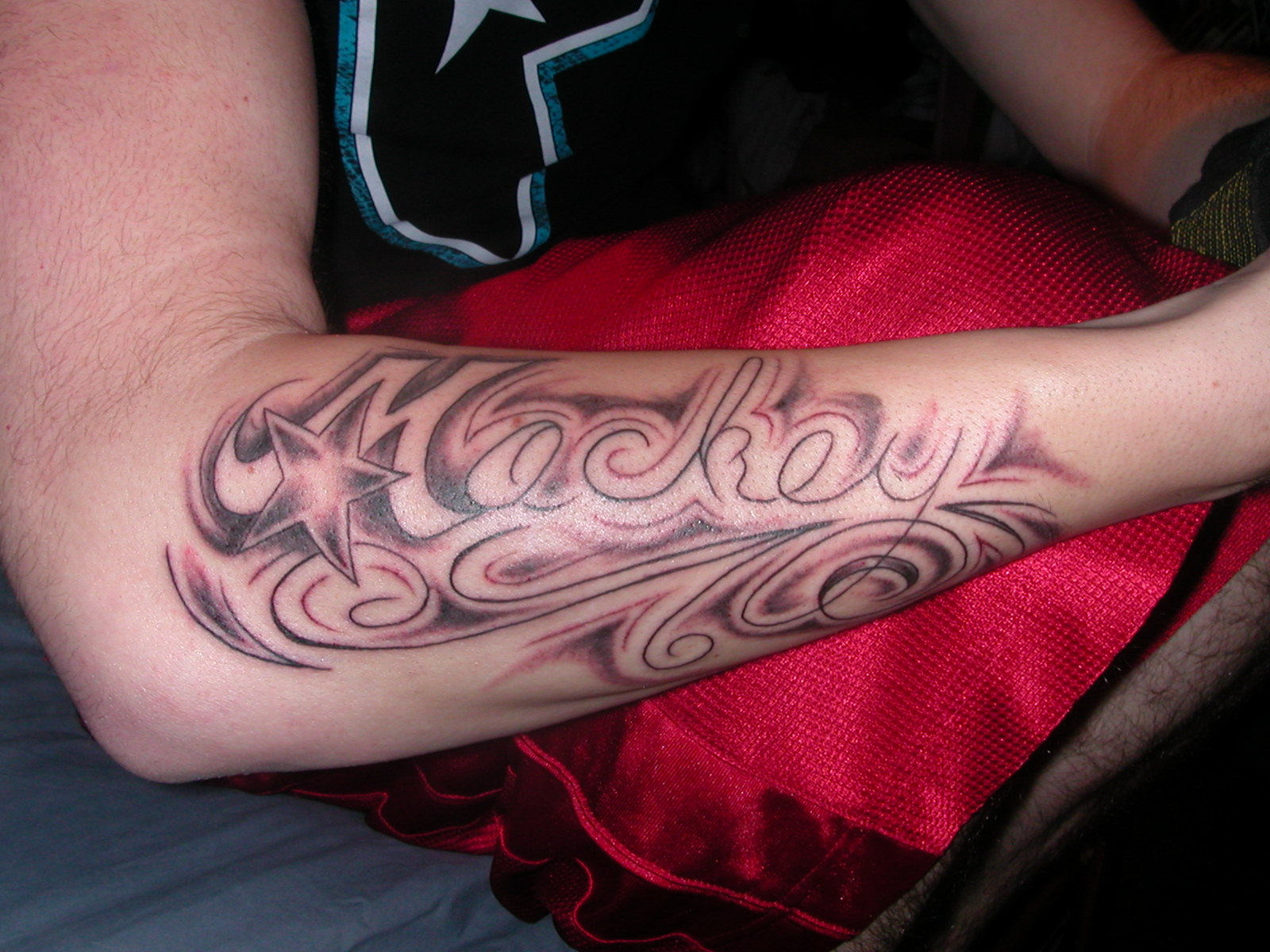 My Last Name Tattoo Design
